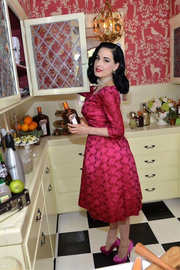 Dita Von Teese Pink Kitchen
