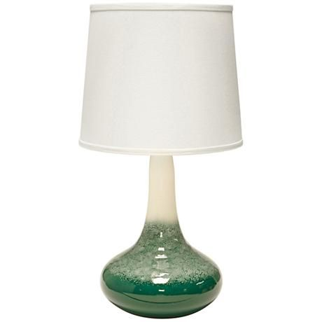 Haeger Potteries Gene Ceramic Cloud Emerald Table Lamp Lampsplus