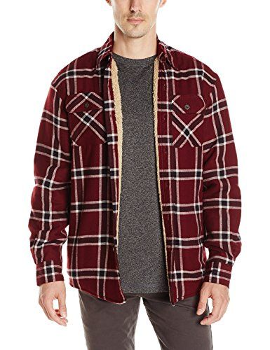 f95cb9876a0 Wrangler Authentics Men s Long Sleeve Sherpa Lined Flannel Shirt Jacket