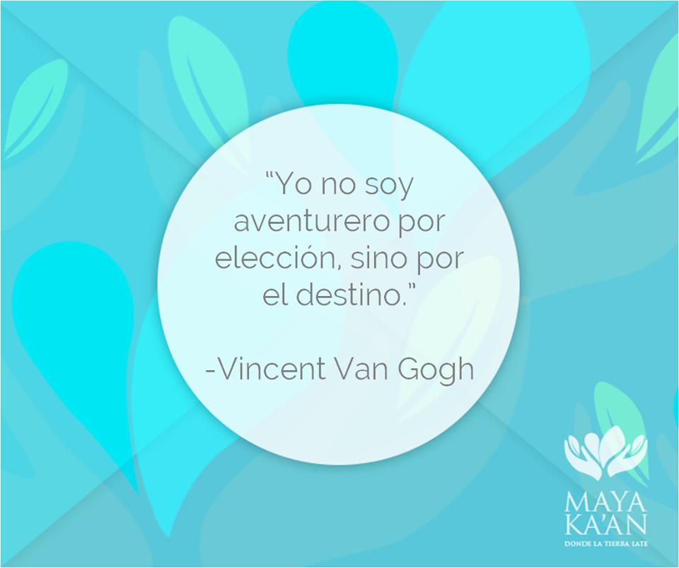 """""""Yo no soy aventurero por elección, sino por el destino."""" Vincent Van Gogh #quotes #travel"""