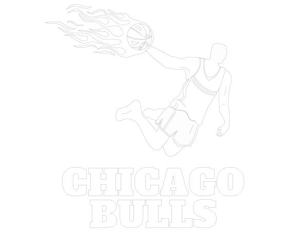 Printable Chicago Bulls Coloring Sheet