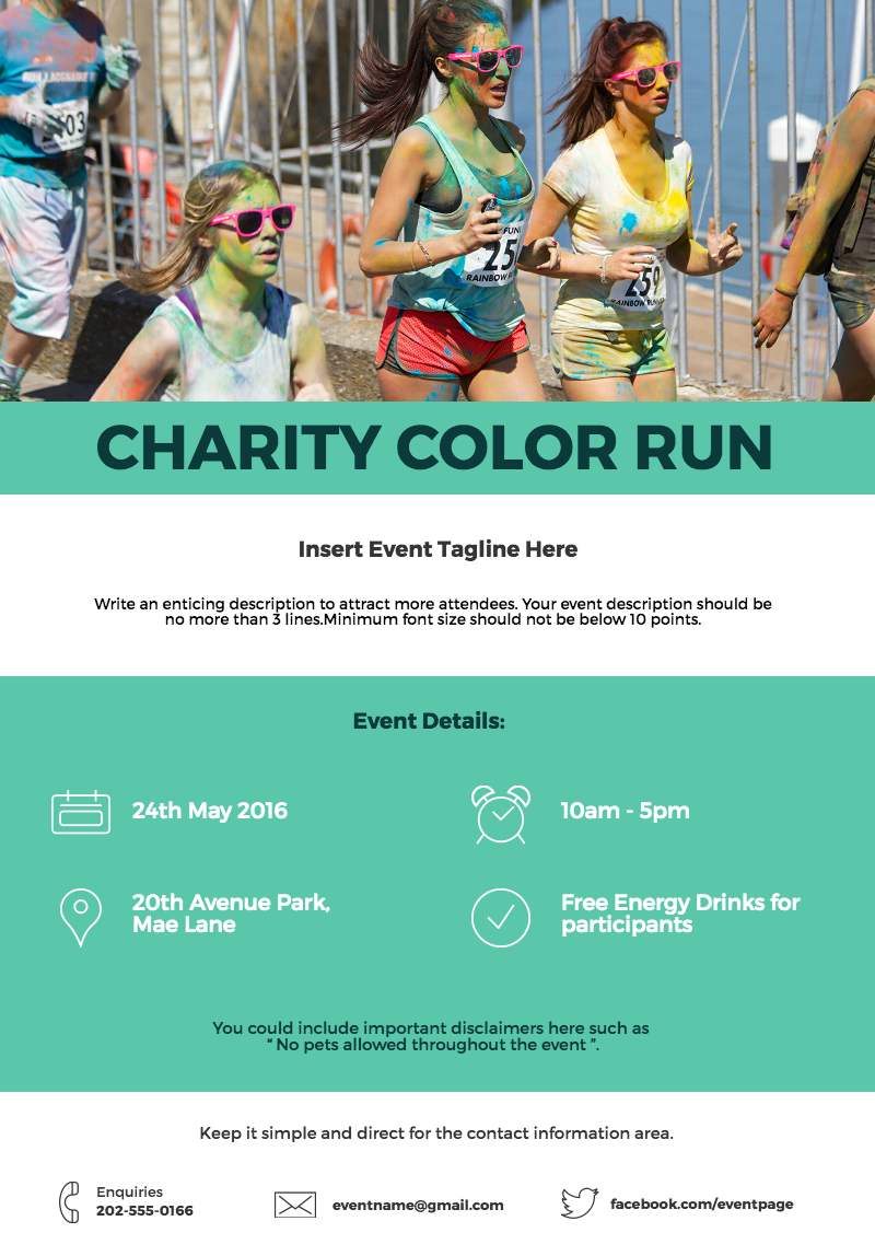design an event poster for a charity run with this new poster