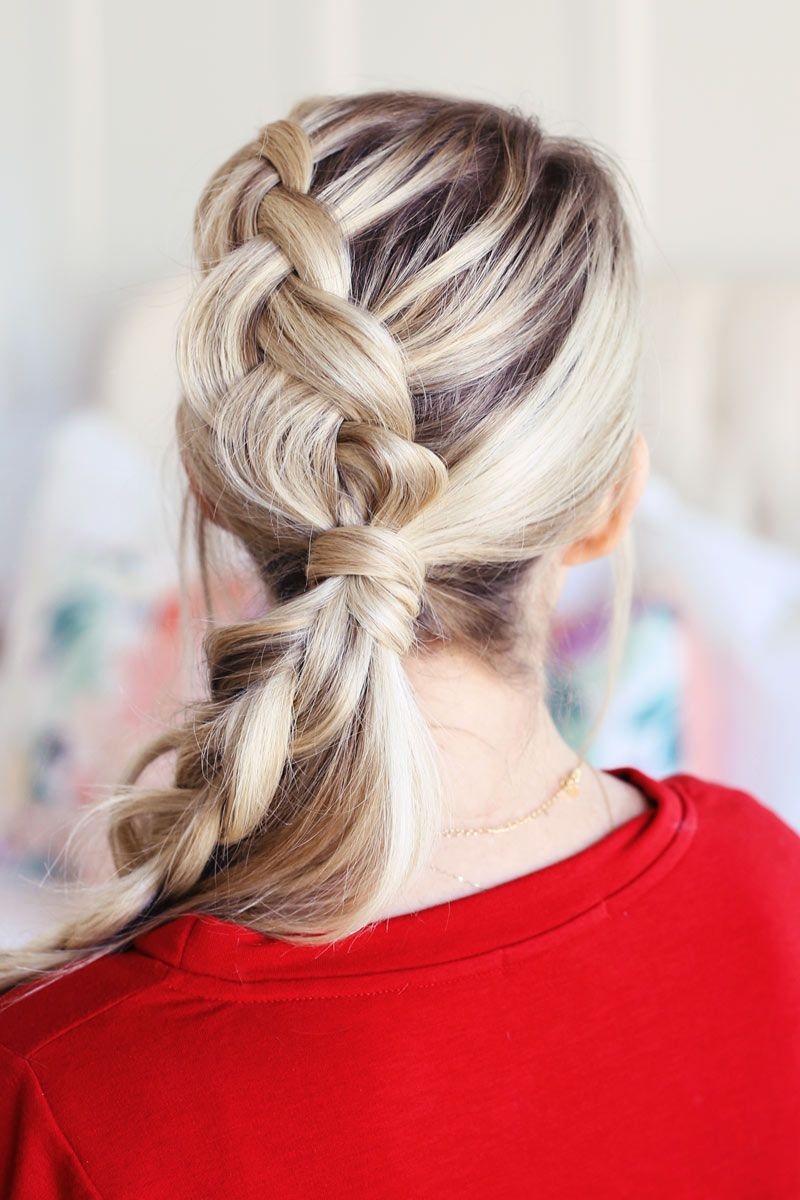 Braided ponytail the perfect christmas hairstyle hair pinterest