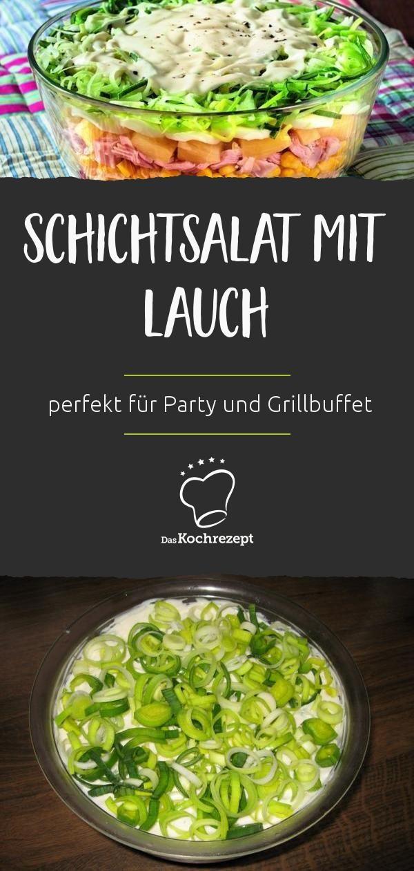 Schichtsalat mit Lauch