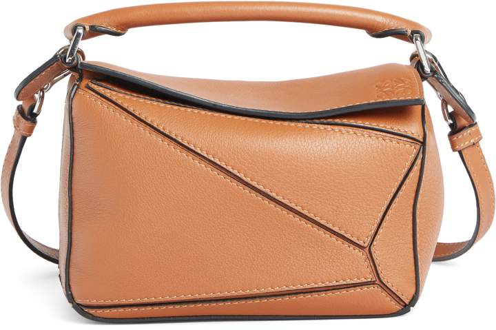 649b9e936cb Loewe Puzzle Mini Calfskin Leather Bag - Brown in 2019 | Products ...