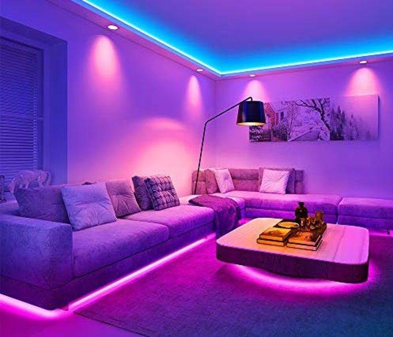 Led Strip Light W Remote Etsy In 2020 Led Lighting Bedroom Chill Room Room Ideas Bedroom