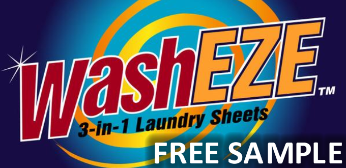 WashEze 3 in 1 Laundry Sheets FREE SAMPLE! Hurry! Will Go Fast! ⋆ The Best source of FREE STUFF, free samples, sweepstakes and giveaways!