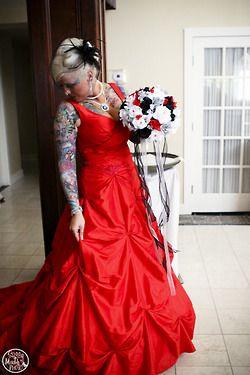 Red Outdoor Wedding Dresses