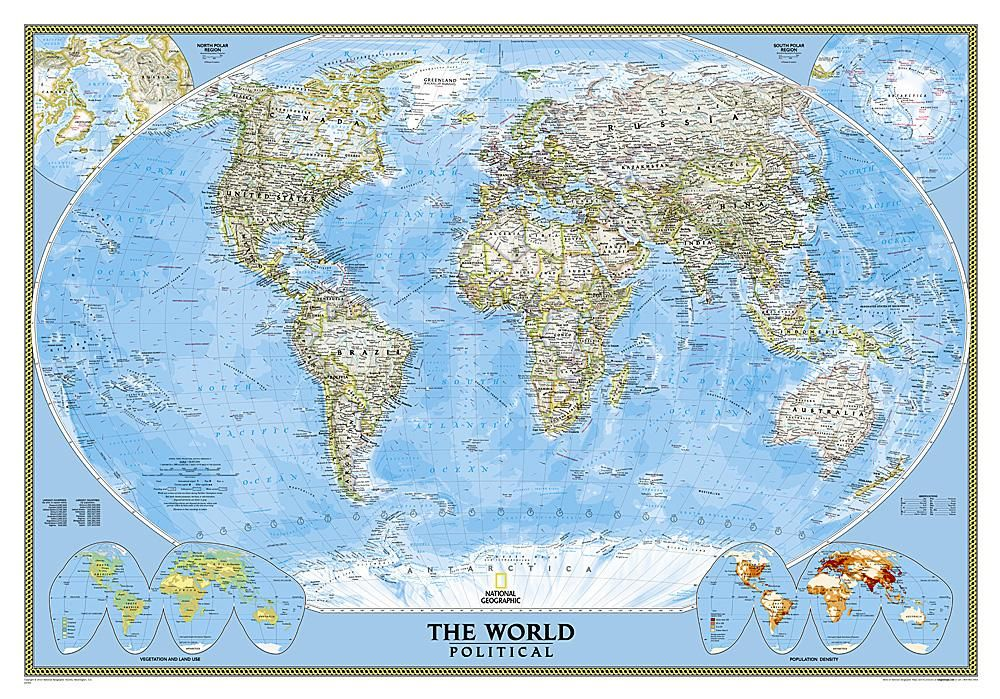 Geographic Map Of World.World Classic Wall Map By National Geographic Maps Products
