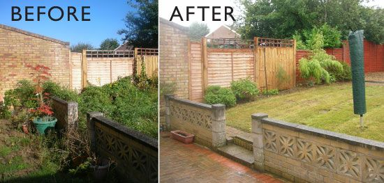 A before and after shot of one of our jobs