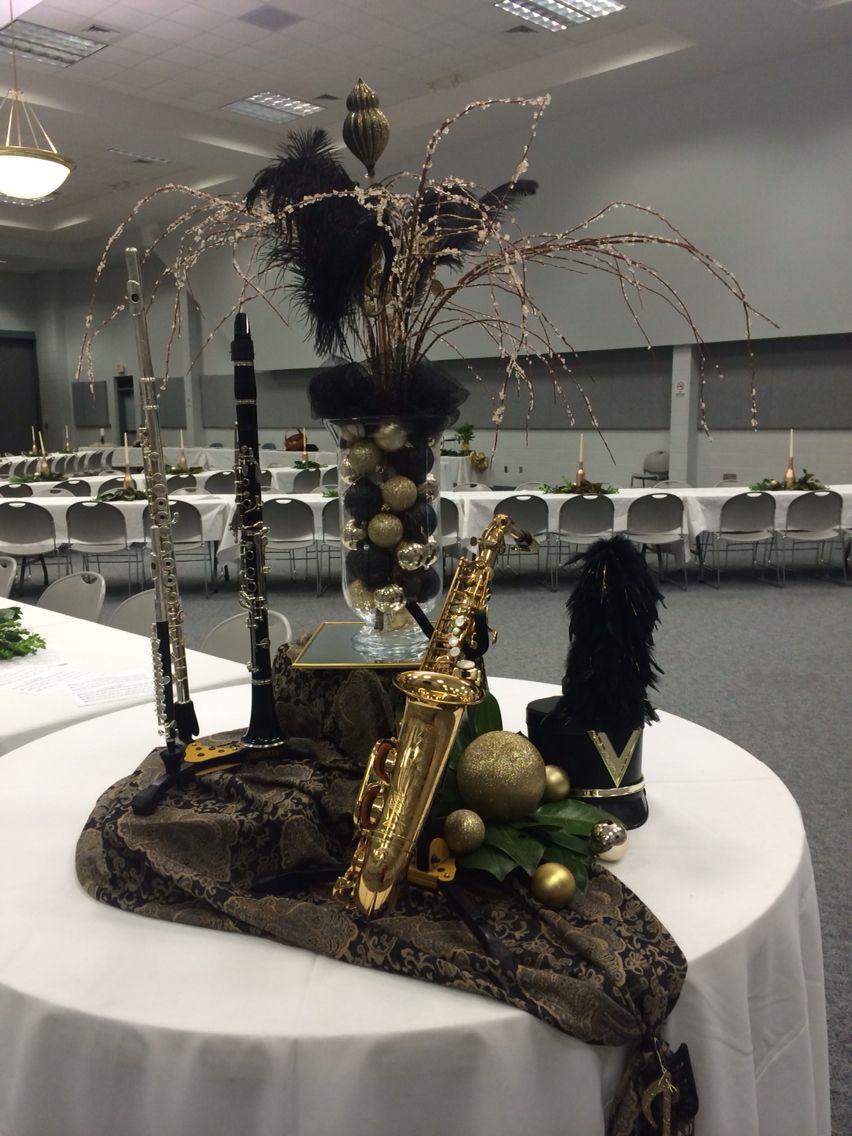 Instrument Centerpieces Band Banquet Band Banquet 2015