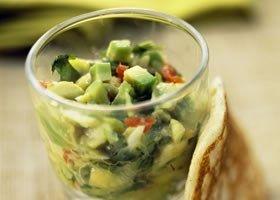 Blini's met tartaar van avocado en krab
