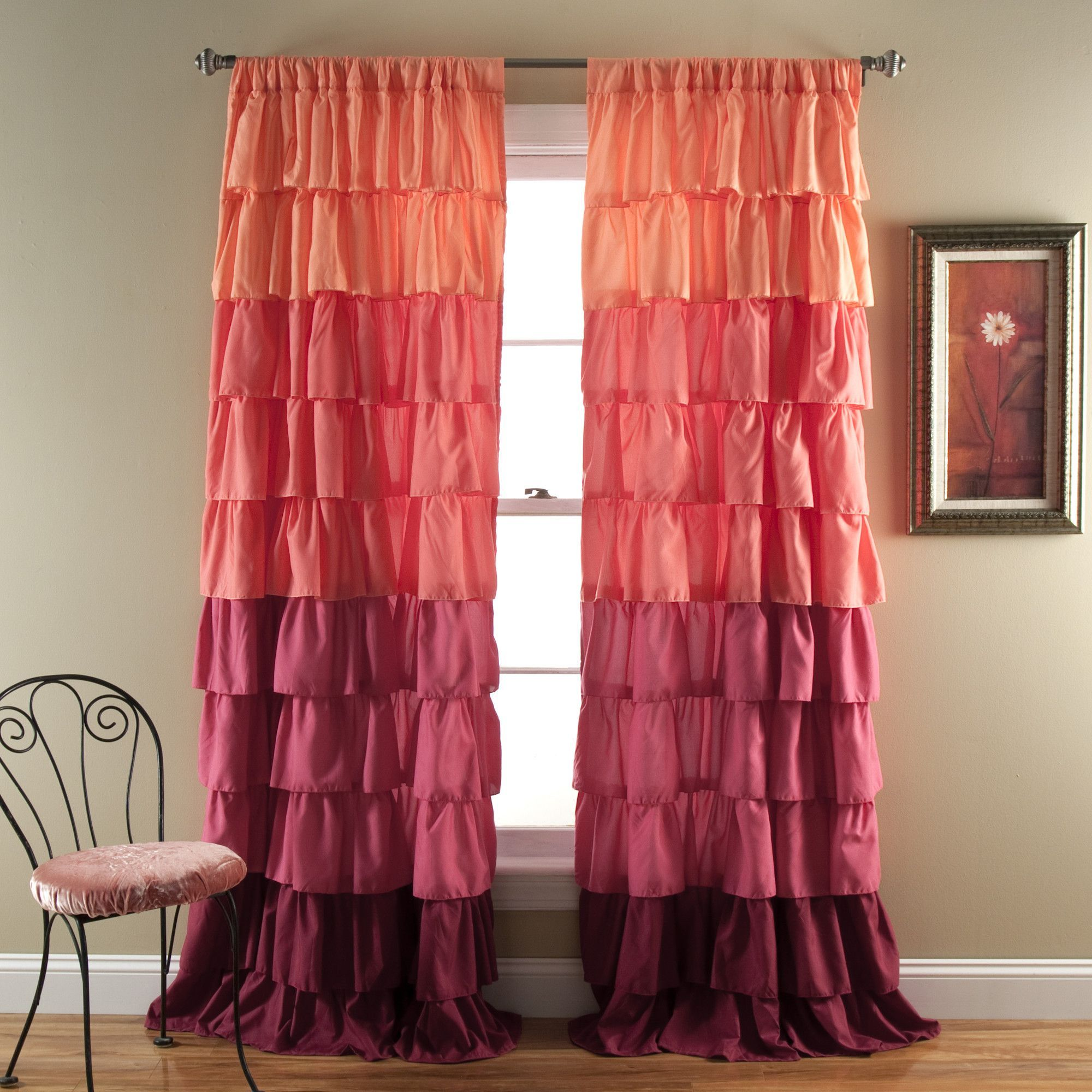 Ruffle window curtain window curtains window and products