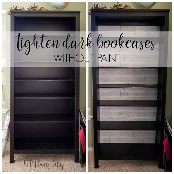 How to Lighten Bookcases without Paint (With images