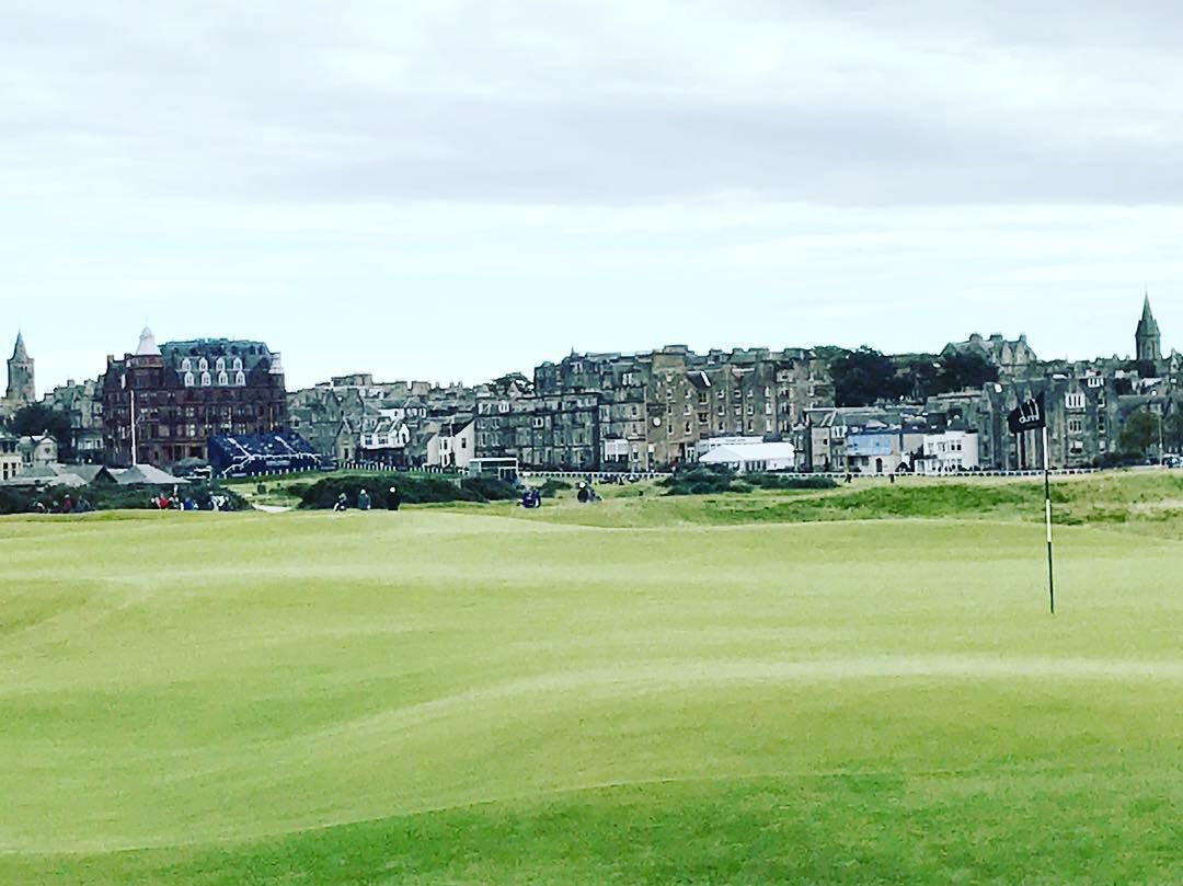 St Andrews From 16th Green Of The Old Course Standrews Oldcourse Sand Castle Instagram Pictures Instagram