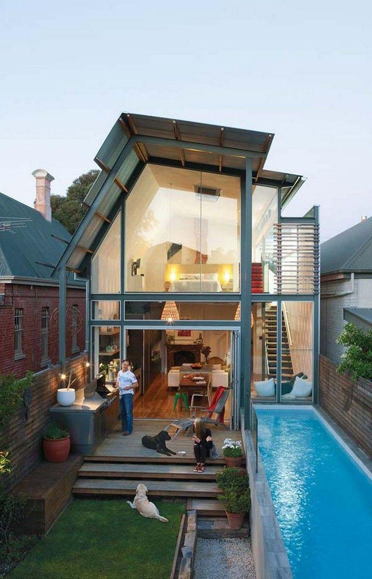 25 Beautiful Small Backyard Designs With Swimming Pool Backyard Backyardshed Backyardlandscaping Tiny House Design Small House Design Tiny House Decor