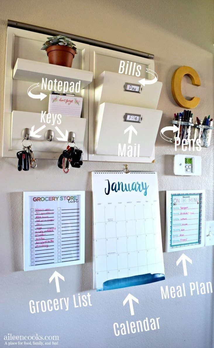 Photo of DIY Command Center Wall for Busy Moms,  #Busy #Center #Command #DIY #Moms #Wall