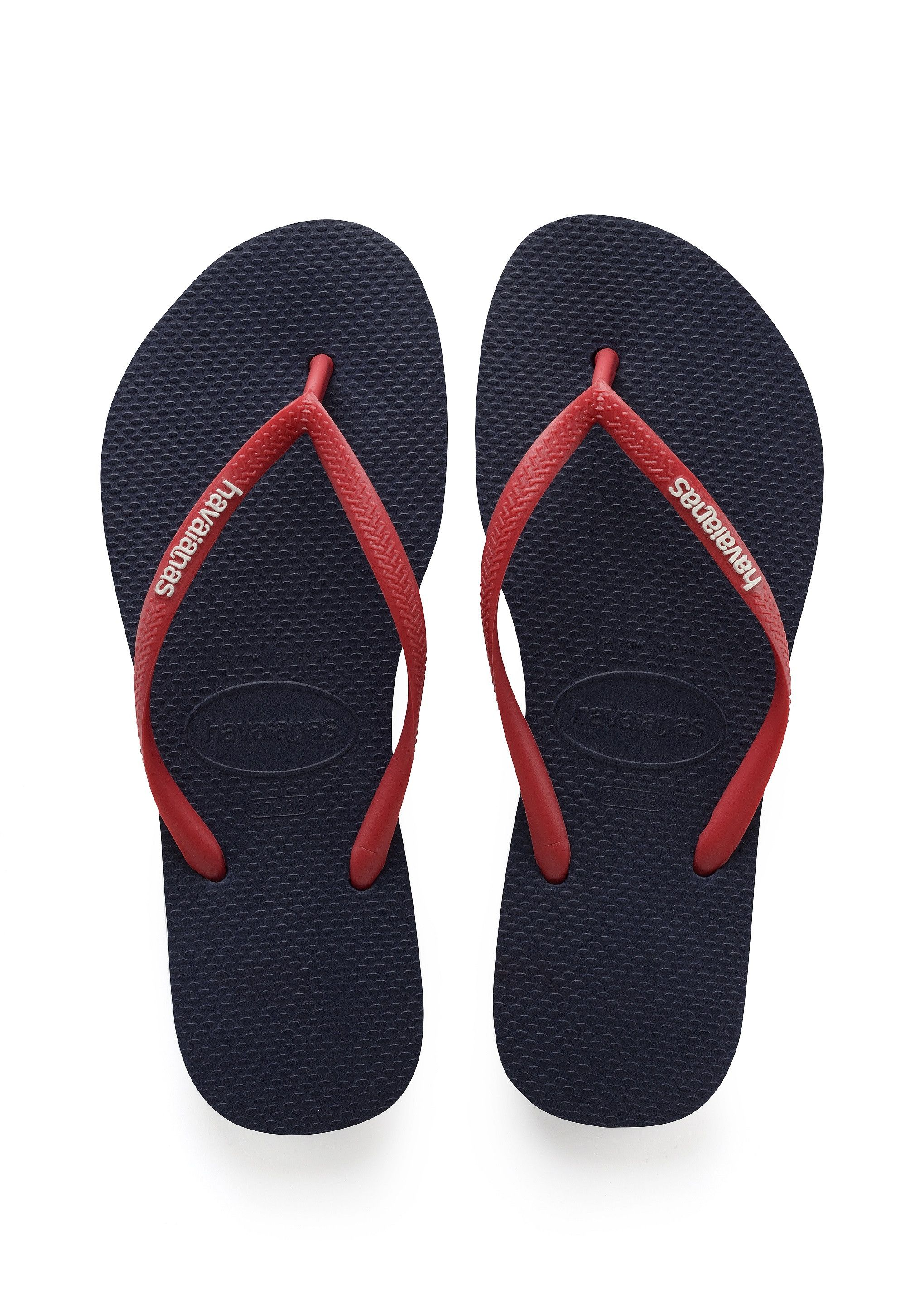 f8d5f6dcde16d2 Havaianas Slim Logo Pop Up Sandal Navy Blue Ruby Red Price From  21