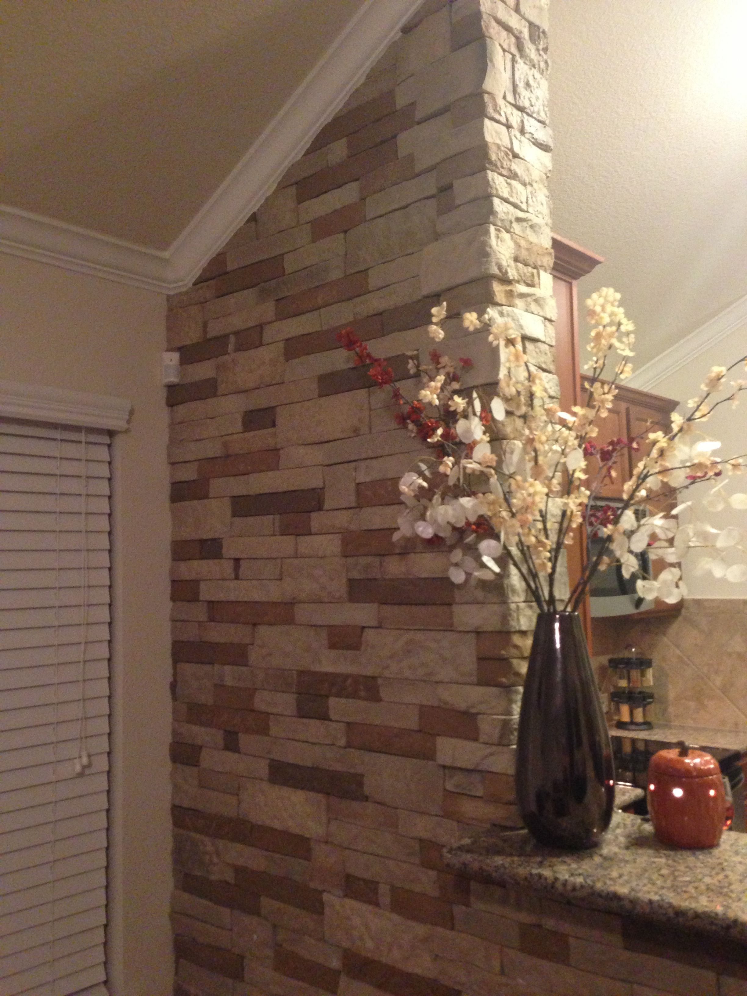 Air stone only at lowes air stone pinterest stone for Fireplace half stone