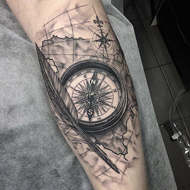 Thanks Asmir Brújula Tatuajes Tatuaje Cartas Y Tatuajes Brujula