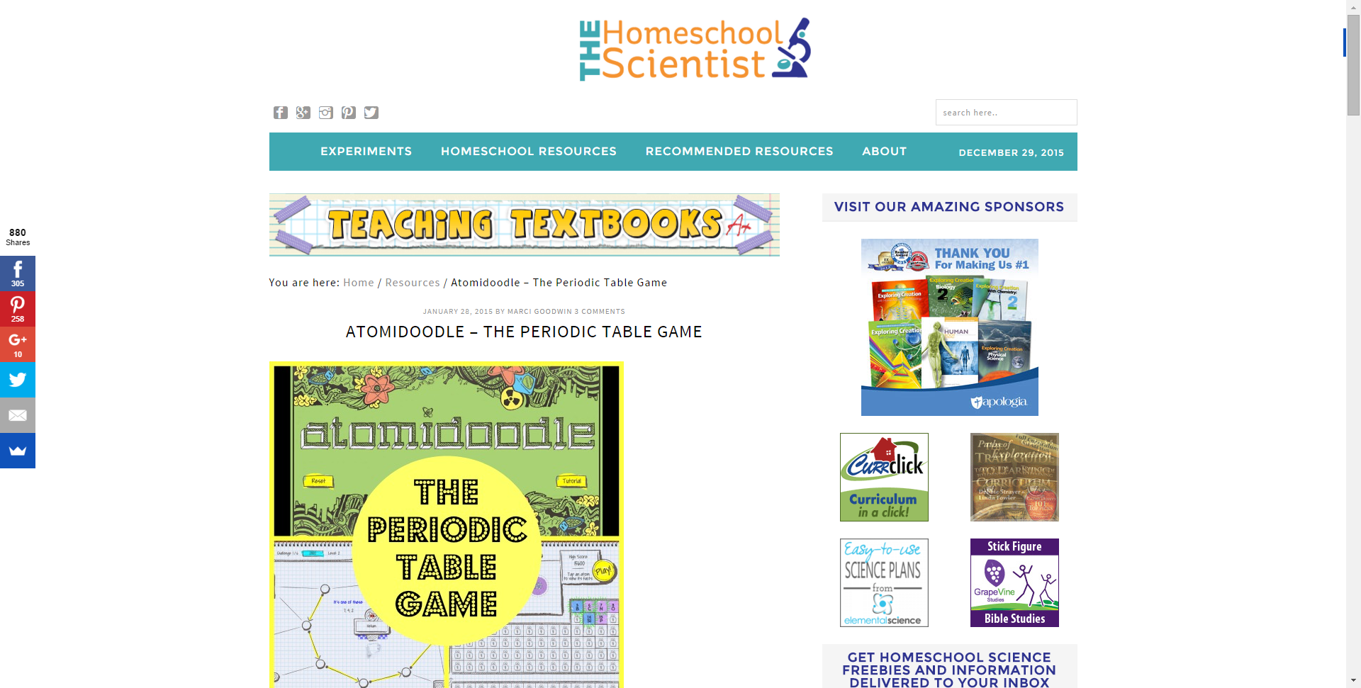 Atomidoodle the periodic table game the homeschool scientist atomidoodle the periodic table game the homeschool scientist gamestrikefo Images