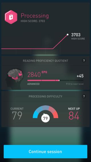Elevate iPhone stats screenshot