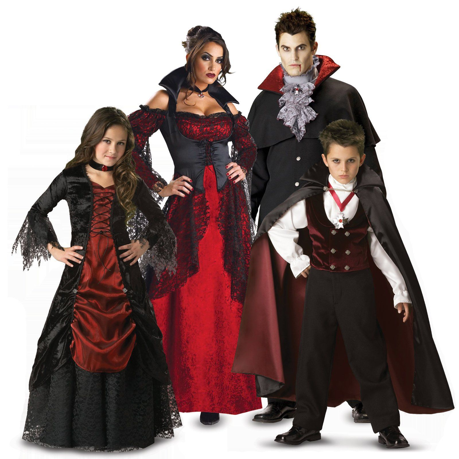 vampire family costumes events halloween costumes. Black Bedroom Furniture Sets. Home Design Ideas