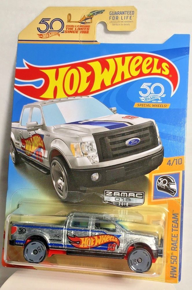 2018 Hot Wheels Zamac 2009 Ford F 150 Pickup Truck Hw 50th Race