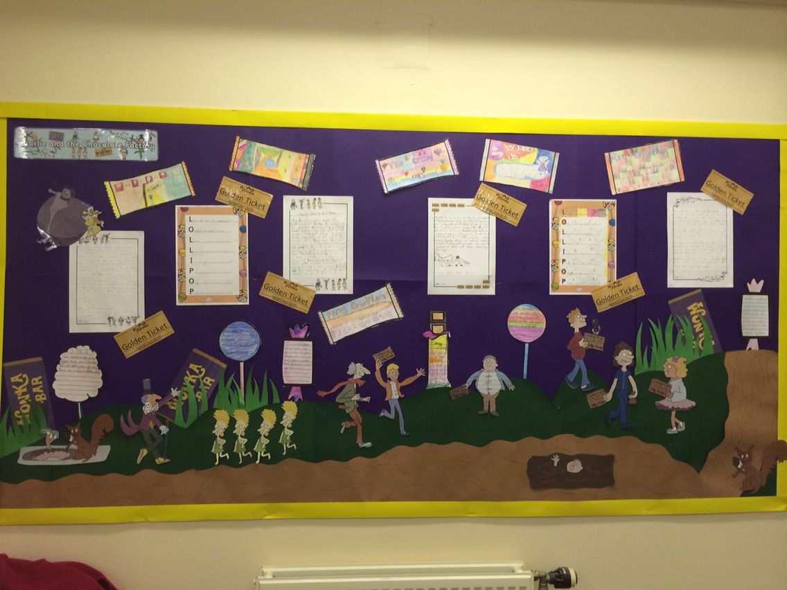 charlie the chocolate factory creative writing literacy english charlie and the chocolate factory classroom display