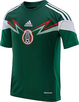 0b37d0676d10f adidas Youth Mexico 2014 World Cup Home Replica Soccer Jersey ...