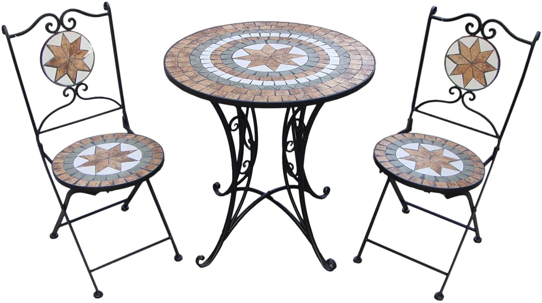 Giardino Mosaikset Gartenset 1 Tisch 2 Stuhle Ay2656 Gartenset