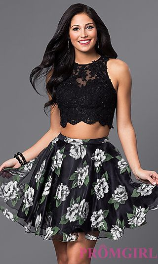cbfb775721 Two Piece Lace Bodice with Floral Print Skirt | clothes | Lace ...
