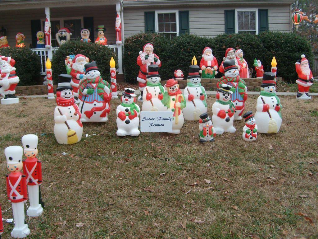 blow mold snowmen outdoor christmas retro christmas christmas lights christmas love christmas - Christmas Blow Molds