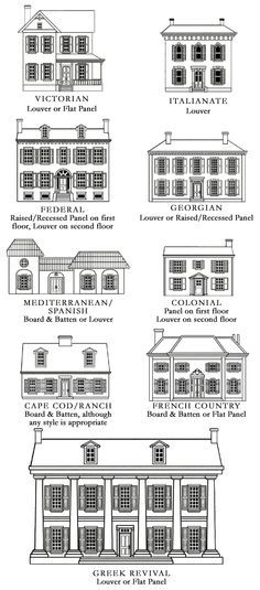 printable list of house styles w/pics - google search | house