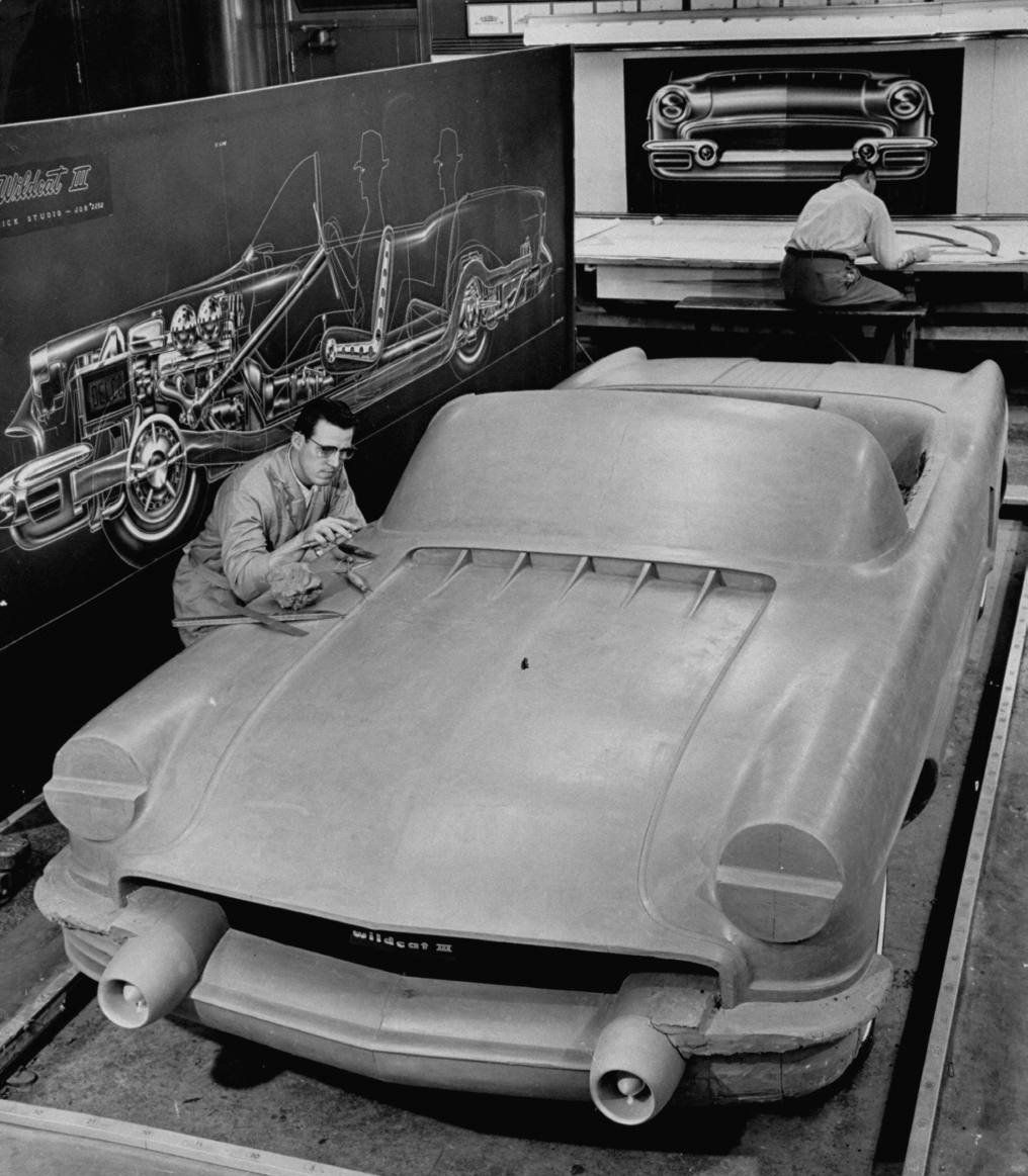 Buick Full Size Car: 1955 Concept Full Size Clay Model Buick Wildcat III