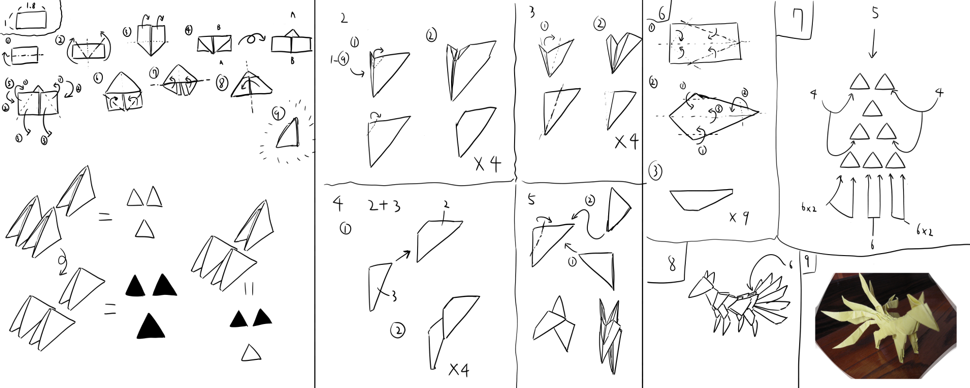 small resolution of 3d origami nine tailed fox how to build by kumazaza deviantart com3d origami nine tailed fox