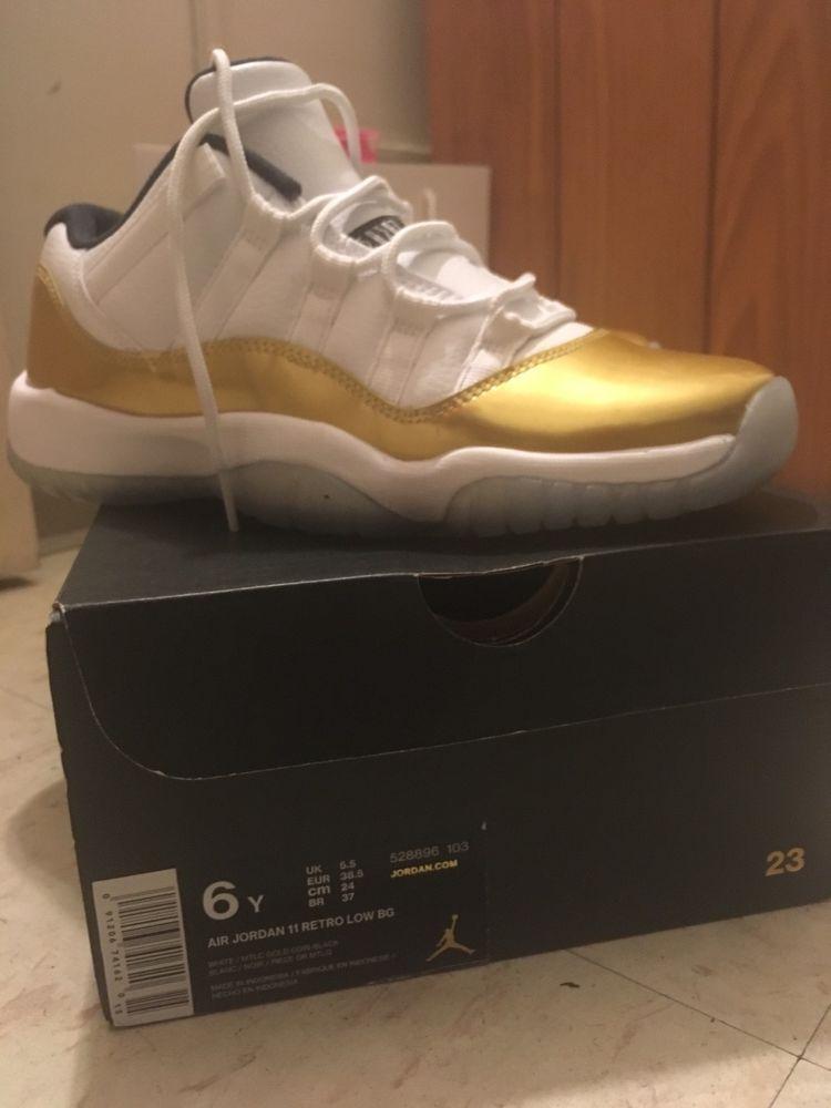 Air Jordan Retro 11 Low Gold Ceremony Size 6y Grade School Fashion