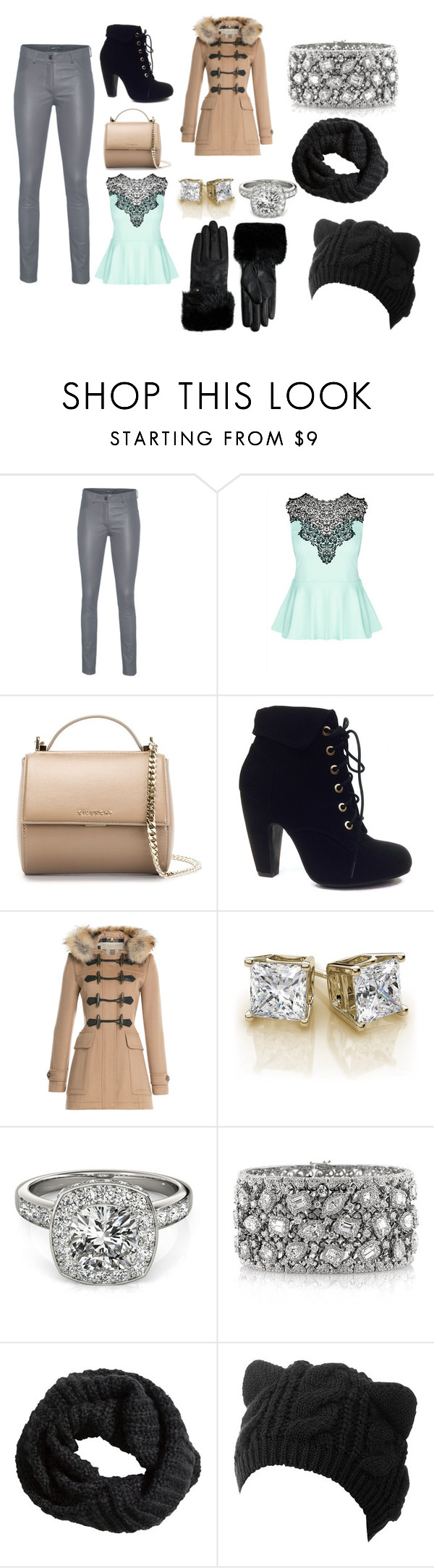 """""""Style Inspiration #12"""" by diva-on ❤ liked on Polyvore featuring Arma, City Chic, Givenchy, Bamboo, Burberry, Allurez, Mark Broumand, H&M and Ted Baker"""
