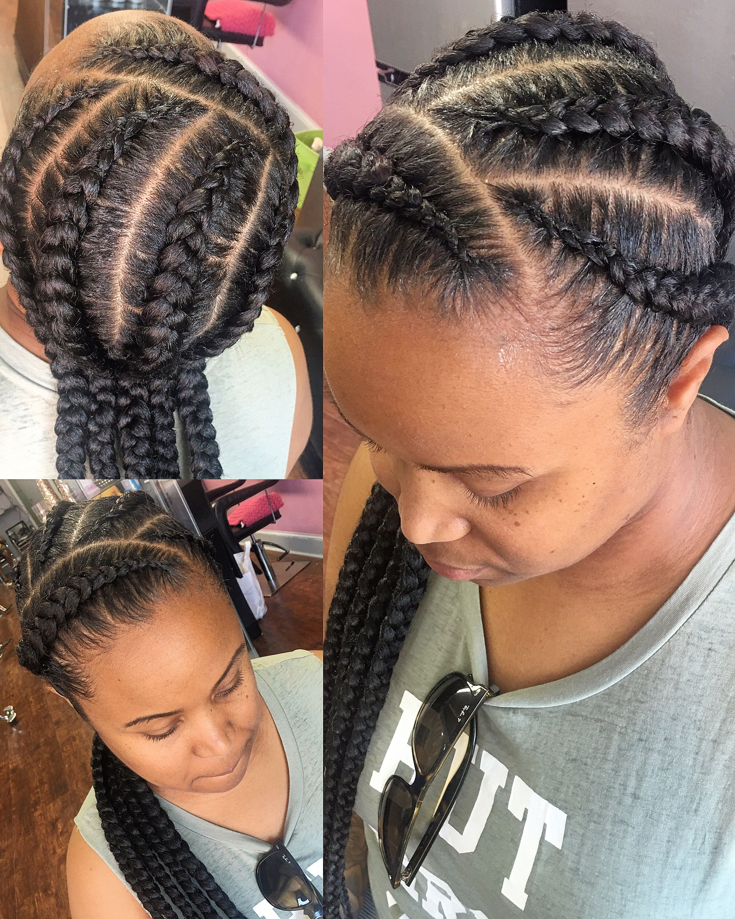 Pin On Hollywood Hairitage Feed In Goddess Braids