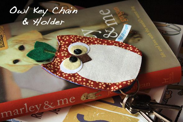 owl key chain and holder