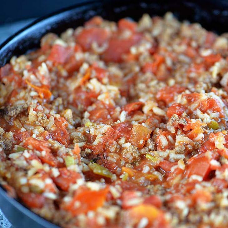 Skillet Spanish Rice With Ground Beef Recipe Main Dishes With Ground Beef Olive Oil Onions Garlic White Rice Oregano Chili Powder Cumin Main Dish Recipes