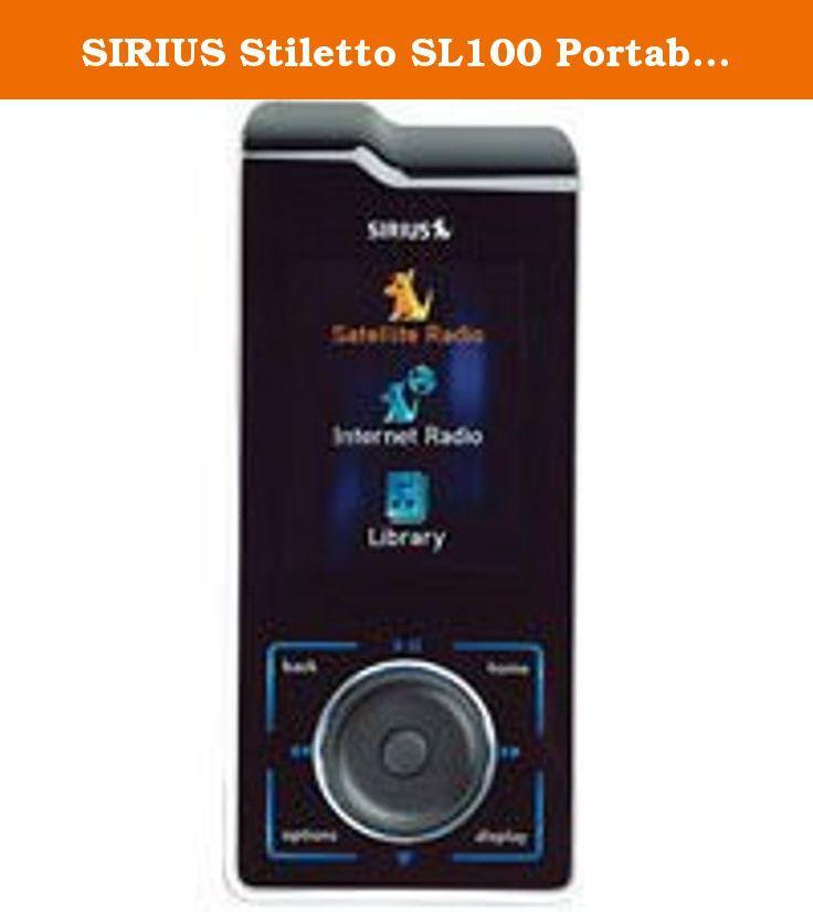 Sirius Stiletto Sl100 Portable Satellite Radio Receiver See Upcoming Rebate Announcement Below On The Left Side Under Downloads Docking Station Sirius Radio