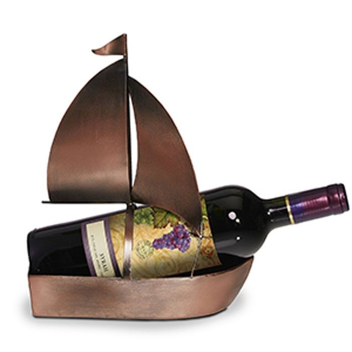 Decoflair Boat Wine Holder Our Bottle Is Sure To Get People Talking The Charming Sailboat Made From Antique Copper