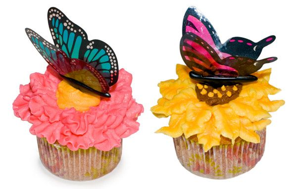 Butterfly flower Cupcakes