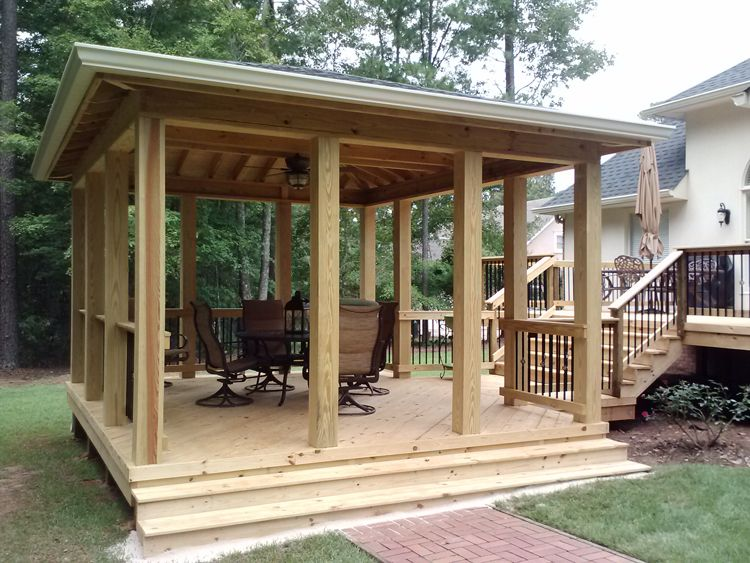 Instead Of Attaching Screened In Room To House Build On Patio As A Stand Alone Outdoor Screen Room Screen House Screened In Patio