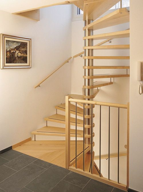 Square Spiral Staircases Wooden Steps Metal Frame 130877 6771937