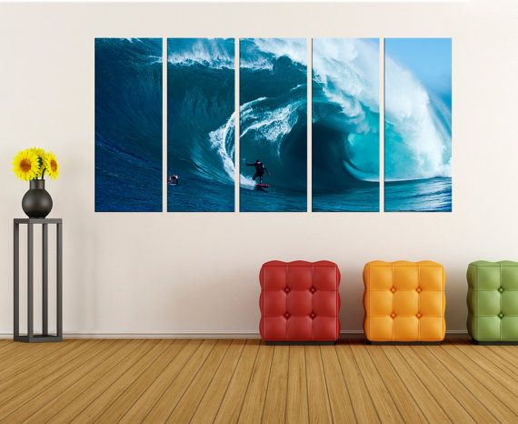 Large Sports Wall Art, Surf Wall Art Canvas, Fine Art Print Large Canvas Art