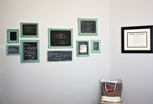 chalkboards- things to spray paint: trash cans, picture frames, lamp bases