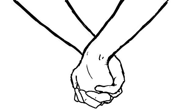 Drawing Of People Holding Hands People Holding Hands Drawing People Hand Silhouette