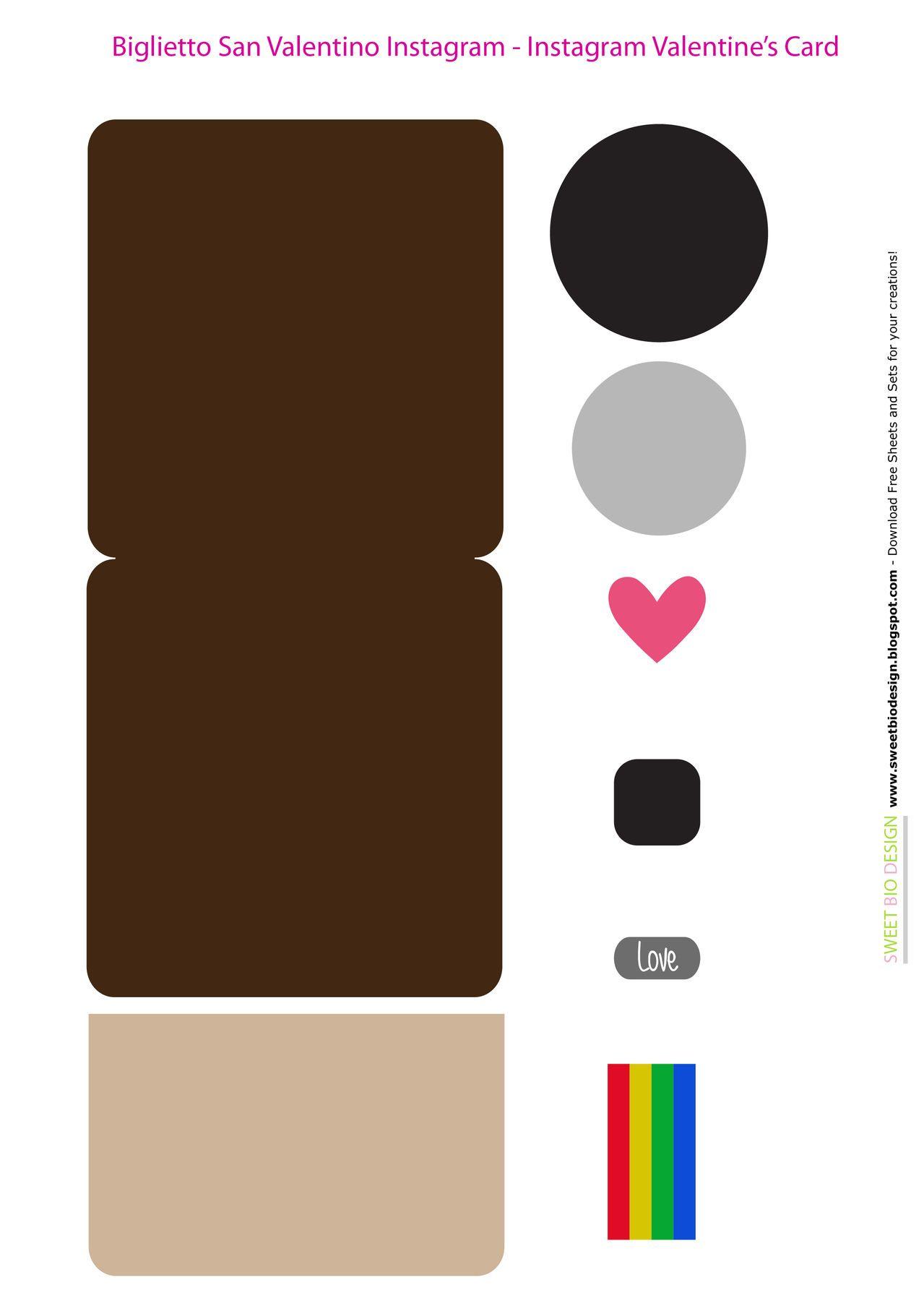 Sweet Bio design: Biglietto S Valentino Instagram Selfie - Instagram Selfie Valentine's Card